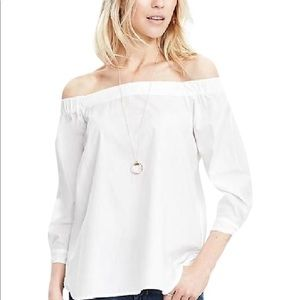 Banana Republic white off the shoulder blouse